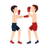 Boxer silhouette avatar icon. Illustration design Stock Photo