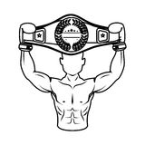 Boxer silhouette avatar icon Stock Photography
