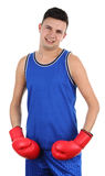 Boxer smiling Royalty Free Stock Photography