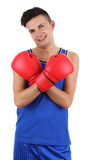 Boxer smiling Royalty Free Stock Photo