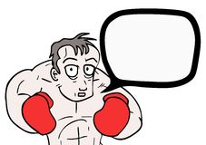 Boxer speaks. Creative design of boxer speaks Stock Images
