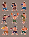 Boxer stickers Royalty Free Stock Images