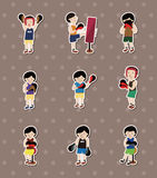 Boxer stickers Stock Photos