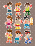 Boxer stickers Royalty Free Stock Image
