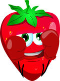 Boxer strawberry Royalty Free Stock Image