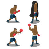 Boxer Strong Mighty Winner Sport Stock Photography
