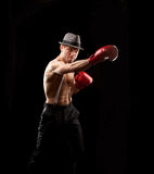 Boxer with suspenders Stock Photos
