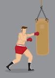 Boxer Training with Punching Bag Stock Image