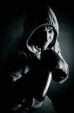Boxer training to fight Royalty Free Stock Photos