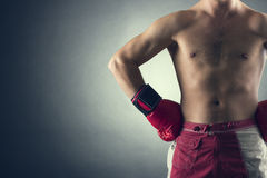 Boxer wearing a glove Stock Image
