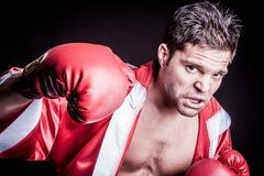 Boxer-werfender Durchschlag Stockfotografie