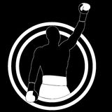 Boxer winner - vector simple Royalty Free Stock Images