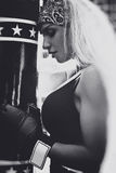 Boxer woman Royalty Free Stock Photography