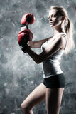 Boxer woman fashion Royalty Free Stock Images
