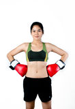 Boxer Woman With Red Glove Stock Photography