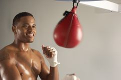Boxer Working Out At Gym Royalty Free Stock Photography
