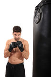 Boxer workout Royalty Free Stock Photo