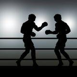 Boxerauseinandersetzung Lizenzfreie Stockfotos