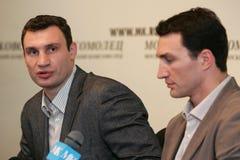 Boxerbrüder Klitschko Stockbild