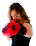 Boxerfrau Lizenzfreie Stockbilder