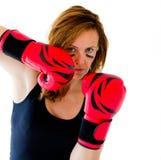 Boxerfrau Lizenzfreie Stockfotografie