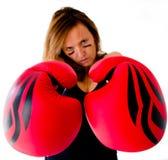 Boxerfrau Stockbilder