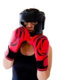 Boxerfrau Lizenzfreie Stockfotos