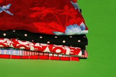 Boxers for all occasions. Colorful boxers for different occasions on a nice green background with copyspace available on the side and below Stock Image