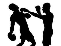 Boxers fighting stock illustration