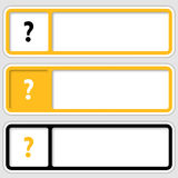 Boxes for any text with question mark. Set of three boxes for any text with question mark Vector Illustration