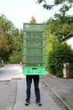 boxes arbetaren Royaltyfri Fotografi
