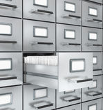 Boxes with archival documents. 3D rendering Royalty Free Stock Images