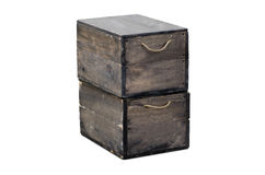 Boxes of army isolation Royalty Free Stock Photos
