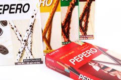 Boxes of assorted Pepero sticks - Series 5 Royalty Free Stock Photo