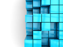 Boxes background. 3d illustration of blue boxes background Royalty Free Stock Photo