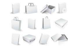 Boxes and bags Stock Photos
