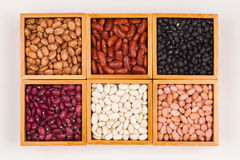 Boxes of beans Stock Photo