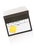 Boxes: Box with Post It Note Royalty Free Stock Photography