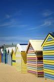 Boxes in Brighton, Australia. Colourful  boxes at Brighton beach in Victoria, Australia Royalty Free Stock Photo