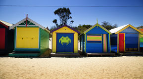 Boxes in Brighton, Australia Royalty Free Stock Images
