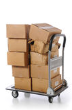 Boxes on cart Stock Photography