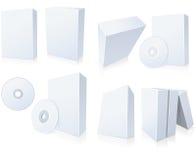 boxes cd programvara vektor illustrationer