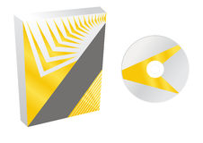 Boxes with cd vector Stock Images