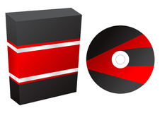 Boxes with cd vector. Vector illustration, corel draw x4 royalty free illustration
