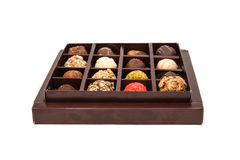 Boxes of chocolates truffles Stock Photos