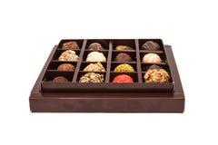 Boxes of chocolates truffles Stock Photos