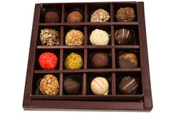 Boxes of chocolates truffles Stock Images
