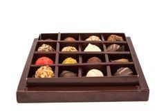 Boxes of chocolates truffles Royalty Free Stock Photos