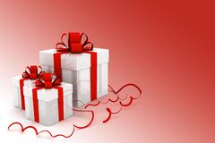 Boxes with christmas gifts Stock Photos