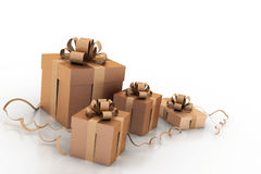 Boxes with christmas gifts Stock Images